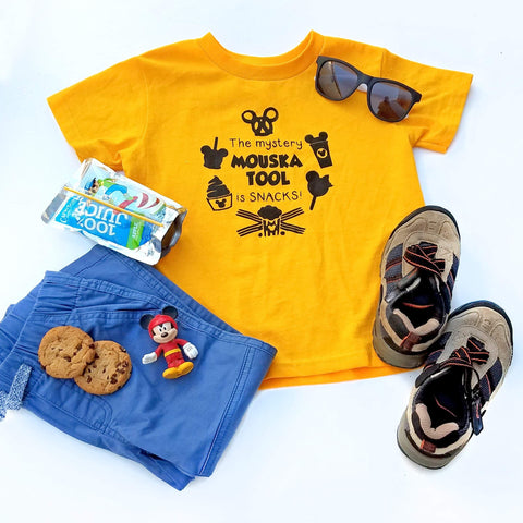 The Mystery Mouska Tool is SNACKS tee, Funny Mickey Mouse Kids T-shirt