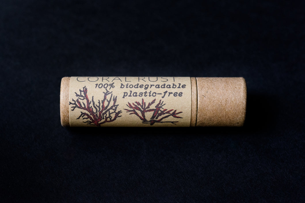 Coral Rust Plastic Free 100% Biodegradable Tinted Lip Balm