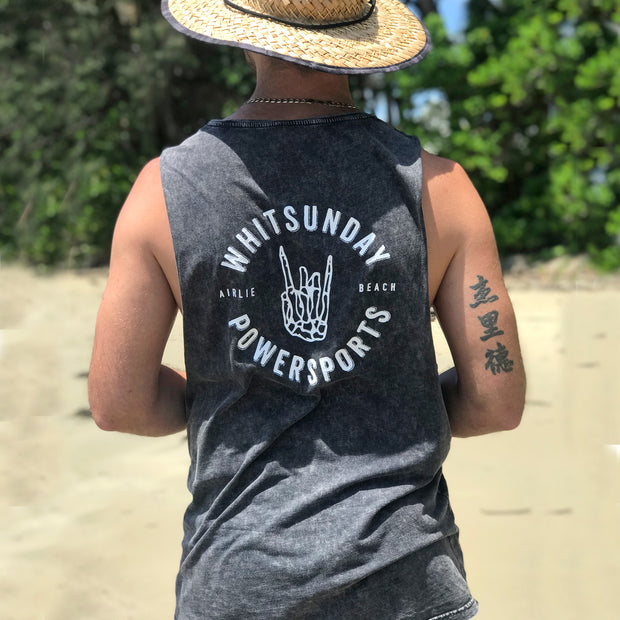Whitsunday Powersports - acid wash singlet