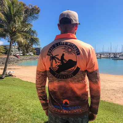 What's life without adventure long sleeve sun shirt