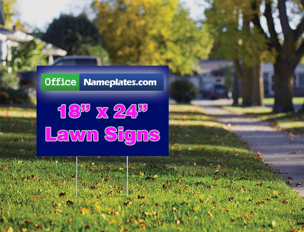 Single-Sided Lawn Sign