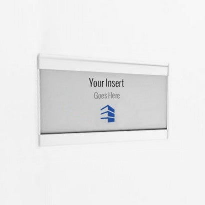 6.25 in. x 3.25 in. OFFICE DOOR / WALL NAMEPLATE SIGN FRAME