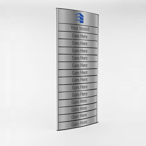 12 in. x 25 3/4 in. OFFICE DIRECTORY NAMEPLATE SIGN FRAME