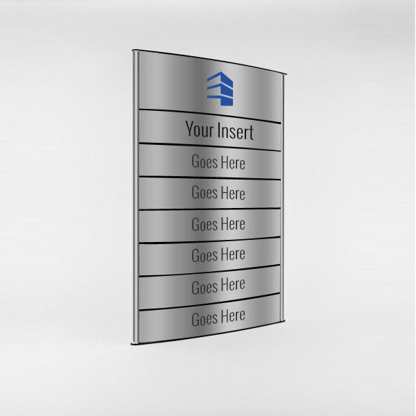 16 in. x 22 3/4 in. OFFICE DIRECTORY NAMEPLATE SIGN FRAME ...