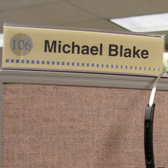 2 in. x 10 in. DOUBLE-SIDED OFFICE CUBICLE NAMEPLATE SIGN FRAME