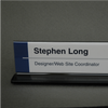 8 in. x 2 in. DOUBLE-SIDED OFFICE CUBICLE NAMEPLATE SIGN FRAME WITH ALUMINUM BASE