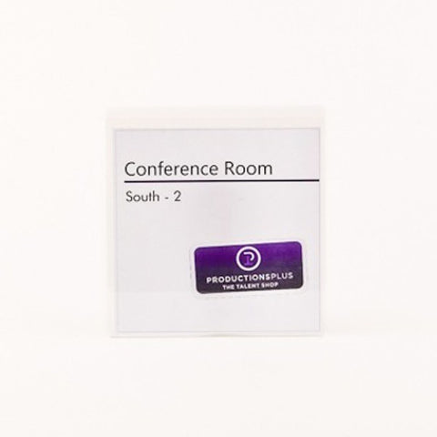 6 in. x 6 in. OFFICE CONFERENCE ROOM NAMEPLATE SIGN FRAME