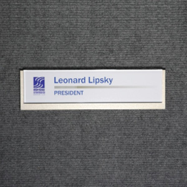 8 3/4 in. x 2 3/8 in. OFFICE CONFERENCE ROOM NAMEPLATE SIGN FRAME