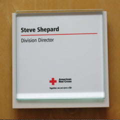 4 in. x 4 in. OFFICE CONFERENCE ROOM NAMEPLATE SIGN FRAME
