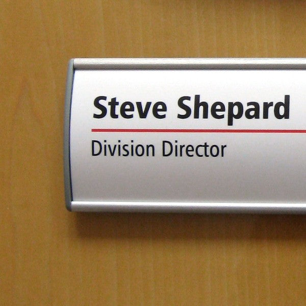 8 in. x 2 1/4 in. OFFICE DOOR / WALL NAMEPLATE SIGN FRAME