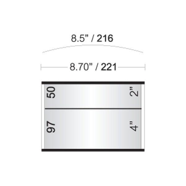 8 1/2 in. x 6 in. OFFICE DOOR / WALL NAMEPLATE SIGN FRAME