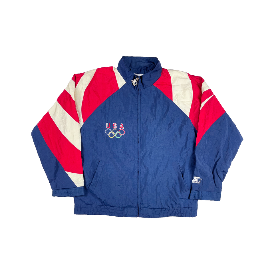 Vintage Red/Navy USA Olympics Starter Windbreaker