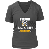 U.S. NAVY Grandma Women's V-Neck T-Shirt Gift for Grandmother