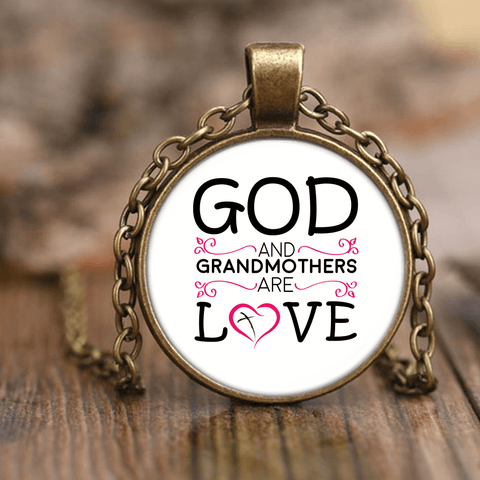 """God and Grandchildren"" Unique Necklace"