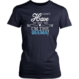 """Say No"" Geema T-Shirt Gift for Grandmother"