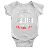"""Blessed and Spoiled by Grandfather"" Grandkid Baby Onesie"