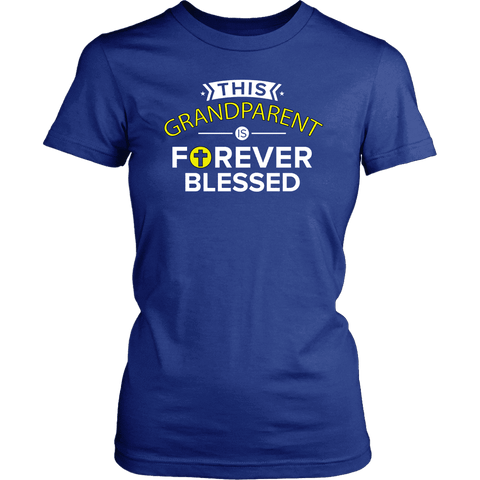 """Forever Blessed"" Grandparents Women's T-Shirt Gift for Grandmother"
