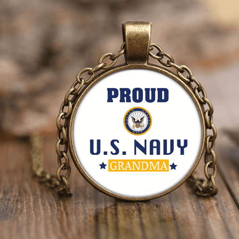 U.S. NAVY Grandma Unique Necklace Gift for Grandmother