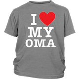 """I Love"" Oma Youth T-Shirt"