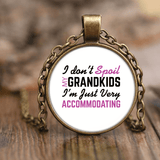 """Spoil Grandkids"" Grandmother Unique Necklace"