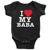 """I Love"" Baba Baby Onesie Gift for Grandfather"