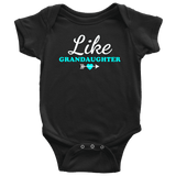 """Like Granddaughter"" Grandkids Baby Onesie"