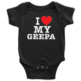 """I Love"" Geepa Baby Onesie Gift for Grandfather"
