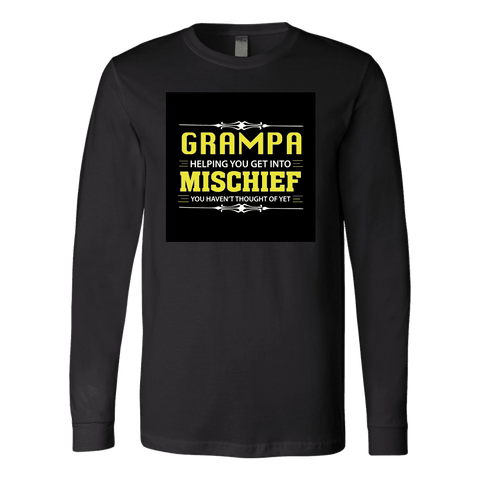"""Mischief"" Long Sleeve Grampa T-Shirt Gift for Grampa"