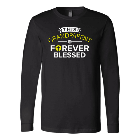 """Forever Blessed"" Grandparents Men's Long Sleeve T-Shirt Gift for Grandfather"