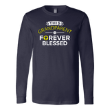 """Forever Blessed"" Grandparents Men's Long Sleeve T-Shirt"
