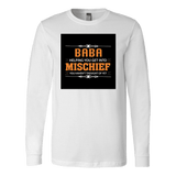 """Mischief"" Long Sleeve Baba T-Shirt Gift for Baba"