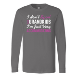 """Spoil Grandkids"" Unisex Long Sleeve T-shirt Gift for Grandparents"