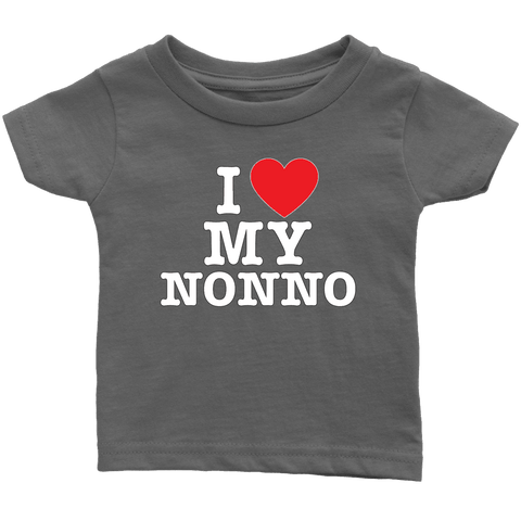 """I Love"" Nonno Infant and Toddler T-Shirts Gift for Grandfather"