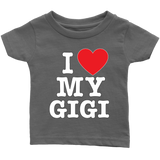 """I Love"" Geema Infant and Toddler T-Shirts Gift for Gigi"