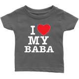 """I Love"" Baba Toddler and Infant T-Shirts"