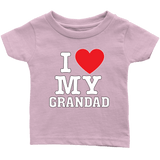 """I Love"" Grandad Infant and Toddler T-Shirts"