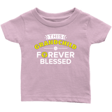 """Forever Blessed"" Grandkid Infant and Toddler Tshirt"