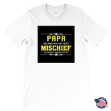 """Mischief"" Made in USA Papa T-Shirt Gift for Grandfather"