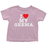 """I Love"" Geema Infant and Toddler T-Shirts"