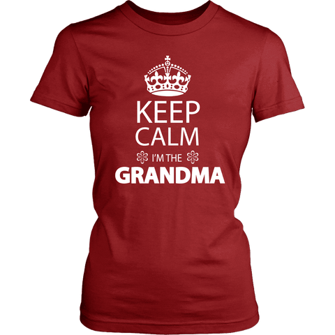 """Keep Calm"" Women's T-Shirt Gifts for Grandparents"
