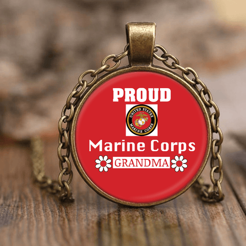 MARINE CORPS Grandma Unique Necklace gift for grandmother