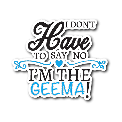 """Say No"" Geema Car Window Sticker"