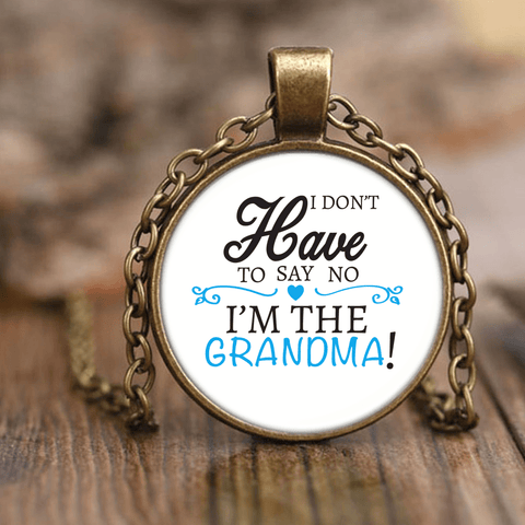 """Say No"" Grandma Unique Necklace Gift for grandmother"