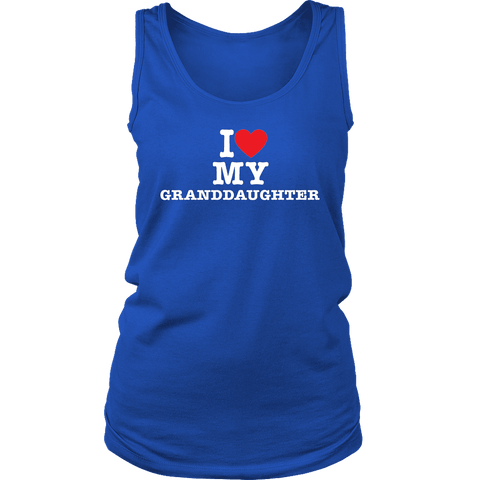 """I Love"" Granddaughter Tank Top Gift for Grandmother"