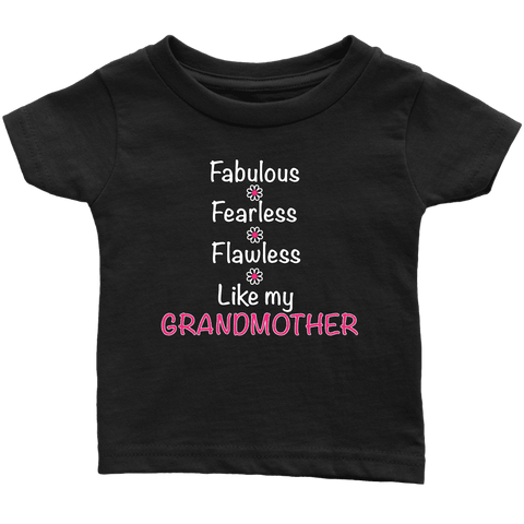 """Fearless"" For Granddaughter Infant and Toddler T-Shirts"