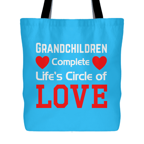 """Circle of Love"" Cotton Tote Bag Gifts for Grandparents"