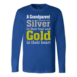 """Silver and Gold"" Grandparent Men's Long Sleeve T-Shirts Gifts for Grandfather"
