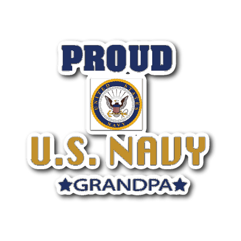 U.S. NAVY Grandpa Car Window Sticker Gift for Grandfather