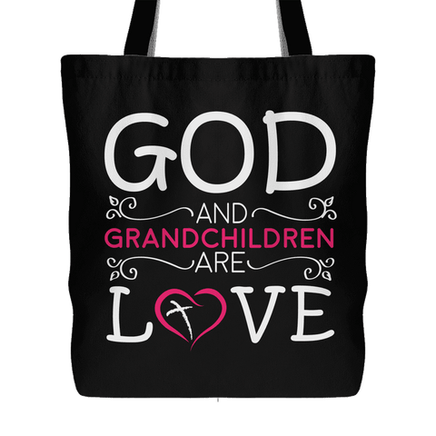 """God and Grandchildren"" Cotton Tote Bag"