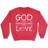 """God and Grandchildren"" Unisex Crewneck Sweatshirt Gift for Grandparents"